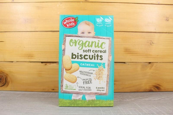 Whole Kids Organic Soft Cereal Biscuits Oatmeal 120g Pantry > Baby Food & Kids Corner