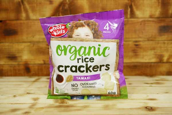 Whole Kids Organic Tamari Rice Crackers (4 Pack) Pantry > Baby Food & Kids Corner