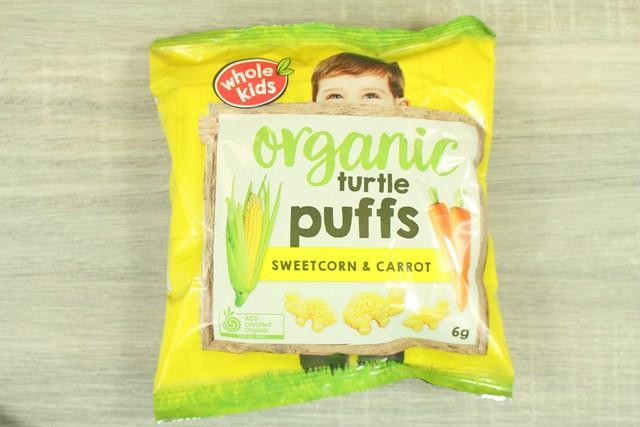 Whole Kids Organic Turtle Puffs Single Bag 6g Pantry > Baby Food & Kids Corner