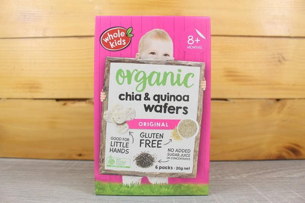 Whole Kids Rice Wafer Quinoa and Chia Box 20g Pantry > Baby Food & Kids Corner
