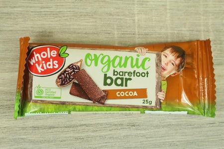 Whole Kids Whole Kids Organic Barefoot Bar Cocoa Single Bar 25g Pantry > Baby Food & Kids Corner