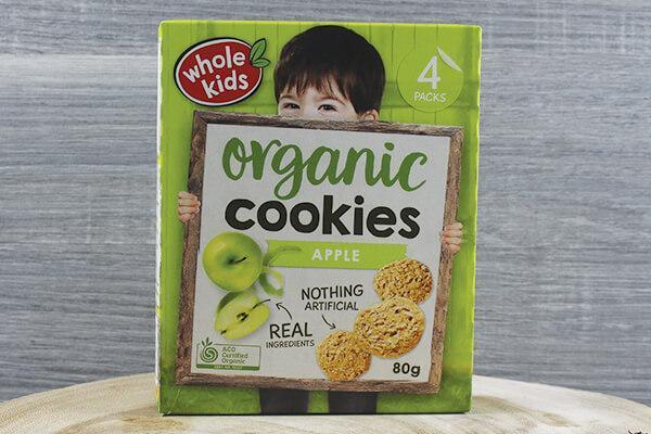 Whole Kids Whole Kids Organic Cookies - Apple 20g x 4 Pantry > Baby Food & Kids Corner