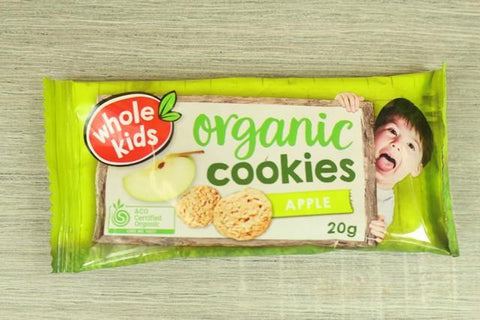 Organic Cookies - Apple 20g x 4