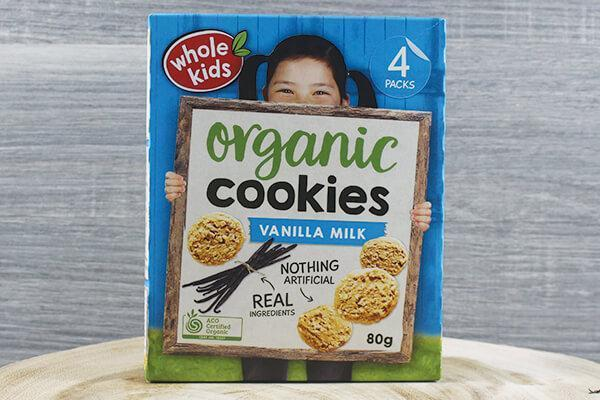 Whole Kids Whole Kids Organic Cookies - Vanilla Milk 20g x 4 Pantry > Baby Food & Kids Corner