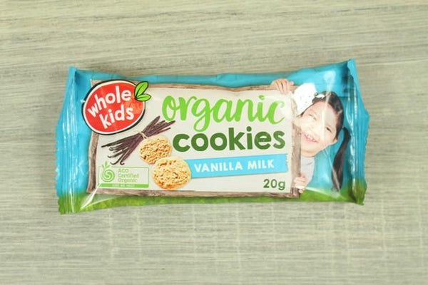 Whole Kids Whole Kids Organic Cookies Vanilla Milk Single Bag 20g Pantry > Baby Food & Kids Corner