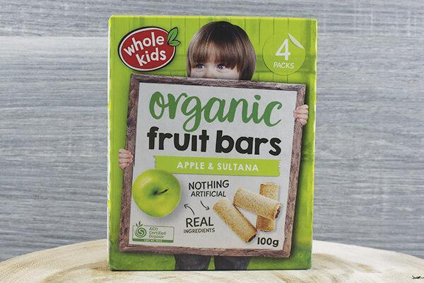 Whole Kids Whole Kids Organic Fruit Bar - Apple Blackcurrant 25g x 4 Pantry > Baby Food & Kids Corner