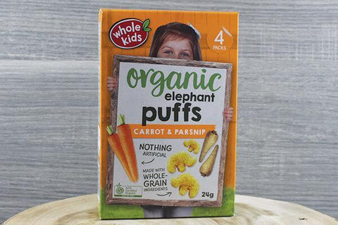 Whole Kids Organic Puffs - Dinosaur Cheese & Leek 6g x 4