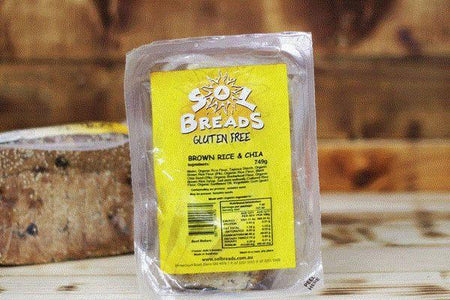 Wild Breads Gluten Free Brown Rice & Chia Bread 749g* Bakery > Bread
