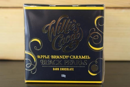 Willie's Cacao Black Pearls Apple Brandy Caramel 150g Pantry > Confectionery