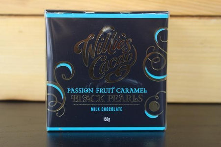 Willie's Cacao Black Pearls Passionfruit Caramel 150g Pantry > Confectionery