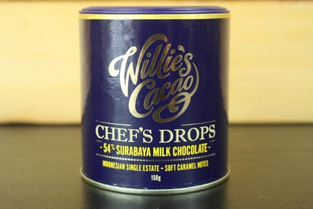 Willie's Cacao Chef's Drop 54 Surabaya Milk Choco 150g Pantry > Confectionery