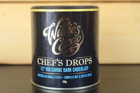 Willie's Cacao Chef's Drop 72 Rio Caribe Dark Choco 150g Pantry > Confectionery