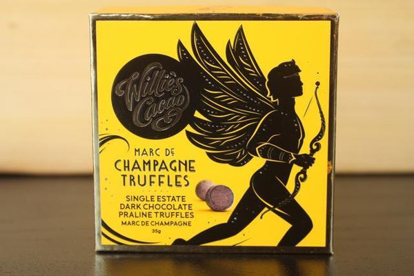 Willie's Cacao Marc De Champagne Truffles 35g Pantry > Confectionery