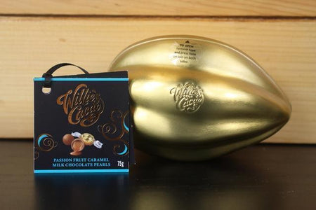 Willie's Cacao Passion Fruit Caramel Milk Choco Mini Pod 75g Pantry > Confectionery