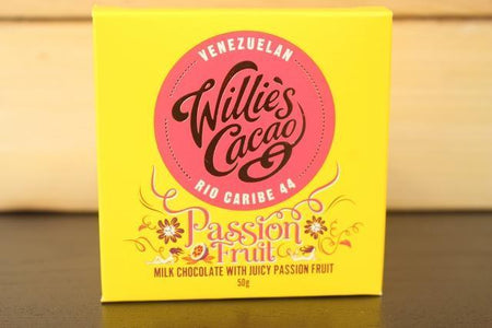 Willie's Cacao Passion Fruit Milk Choco 50g Pantry > Confectionery