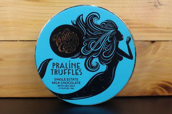 Willie's Cacao Praline Truffles Milk Chocolate Sea Salt 110g Pantry > Confectionery
