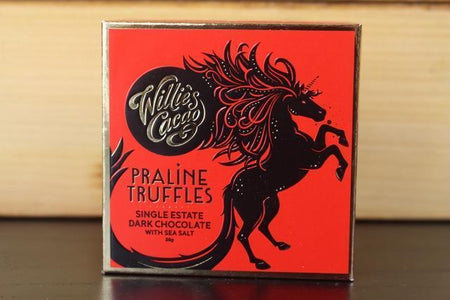 Willie's Cacao Praline Truffles Sea Salt Dark Choco 35g Pantry > Confectionery