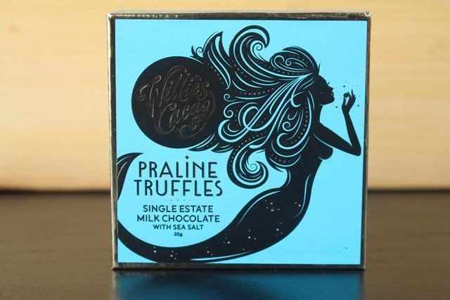 Willie's Cacao Praline Truffles Sea Salt Milk Choco 35g Pantry > Confectionery