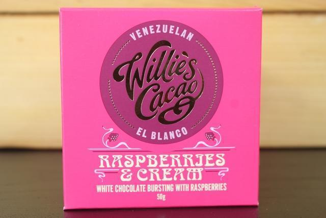 Willie's Cacao Raspberries & Cream White Choco 50g Pantry > Confectionery