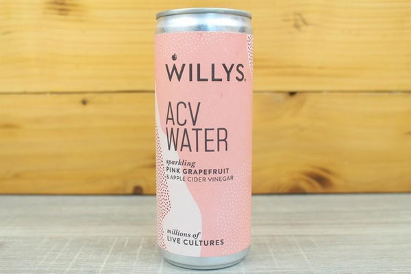 Willy ACV Water Sparkling Pink Grapefruit 250ml Drinks > Kombucha & Health Drinks