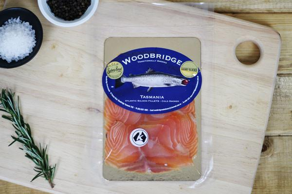 Woodbridge Smokehouse Cold Smoked Atlantic Salmon 100g* Seafood > Fish