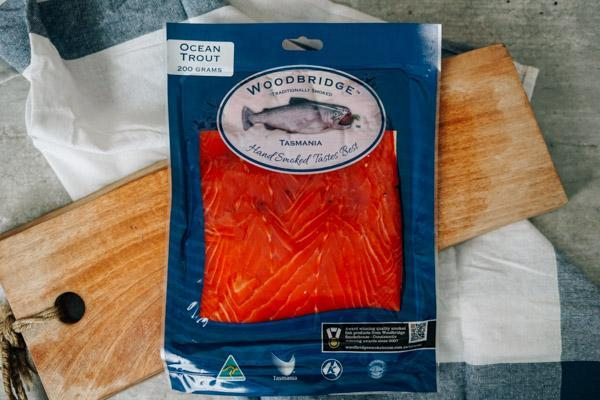 Woodbridge Smokehouse Cold Smoked Ocean Trout Salmon 200g Seafood > Fish