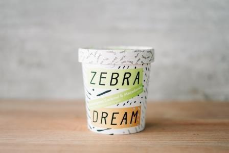 Zebra Organic Lemongrass Caramel Ice Cream 475ml Freezer > Ice Cream