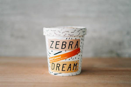 Zebra Organic Salted Caramel Ice Cream 475ml Freezer > Ice Cream