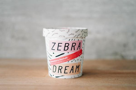 Zebra Organic Strawberry Baobab Ice Cream 475ml Freezer > Ice Cream