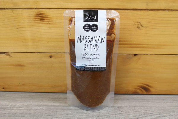 Zest Byron Bay Massaman Recipe Base 175g Pantry > Condiments