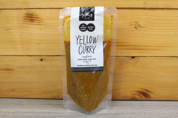 Zest Byron Bay Yellow Curry Recipe Base 175g Pantry > Condiments