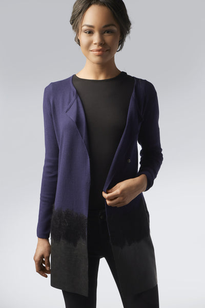 Blossom Blue-Black Cardigan