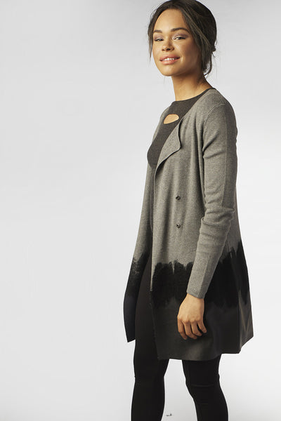 Blossom Grey-Black Cardigan