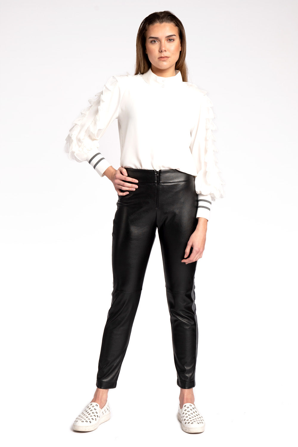 Nancy Faux Leather Pants