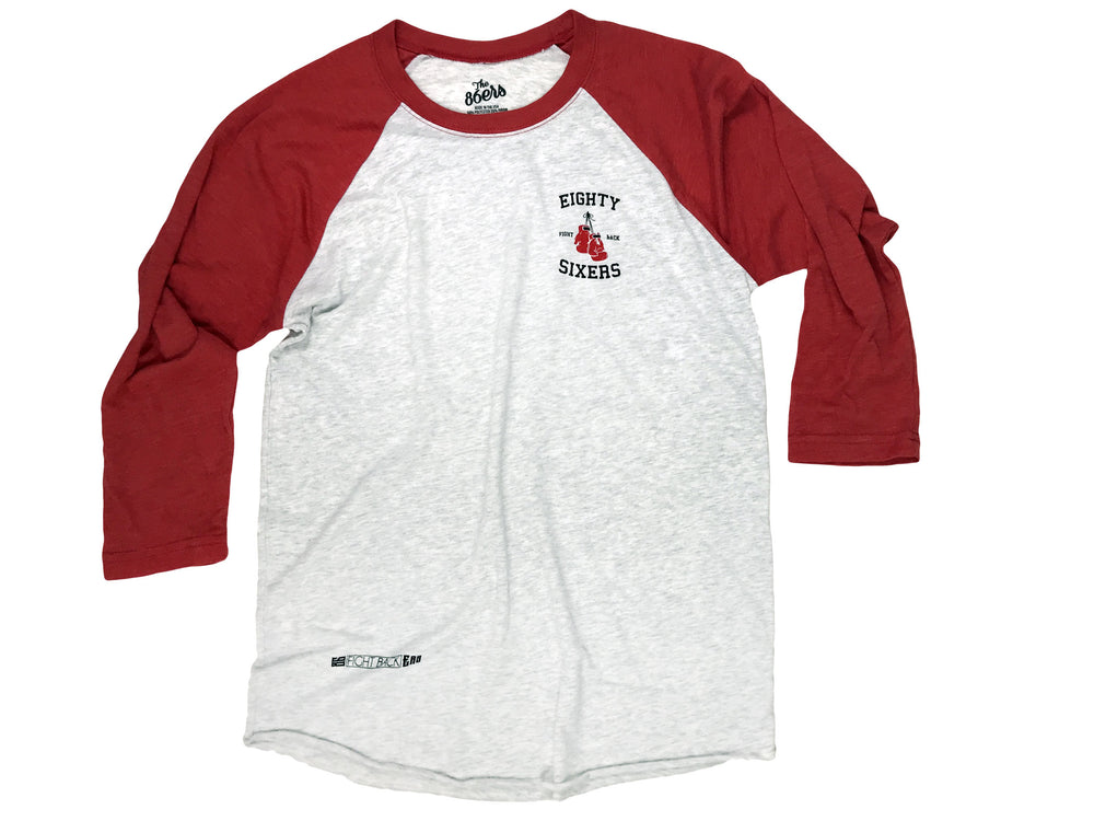 The 86ers Fight Back Raglan 3/4 sleeve