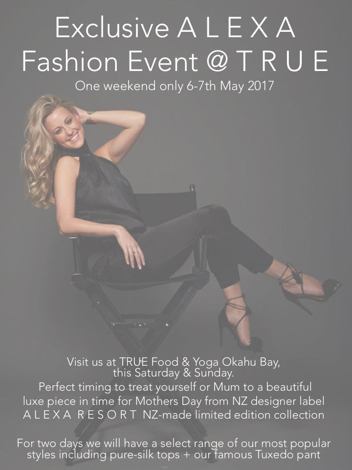 Exclusive Fashion event @ TRUE Food&Yoga Studio this weekend