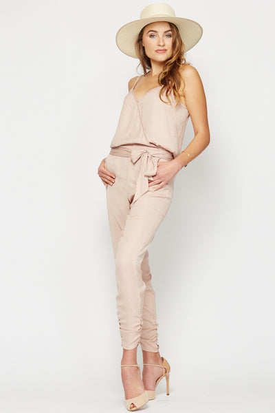Jade Resort Jumpsuit in Blush
