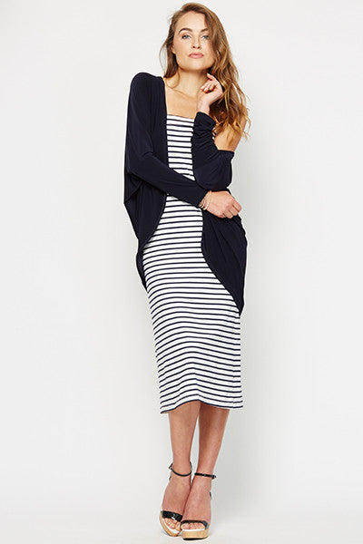 Nicky Resort Wrap Jacket, Navy