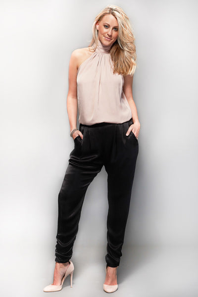 Relax Loungepant -BLACK satin NEW