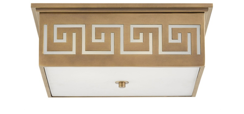 GREEK KEY FLUSH MOUNT