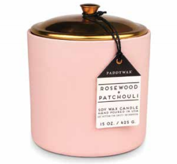 ROSEWOOD & PATCHOULI HYGGE CERAMIC CANDLE