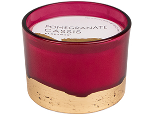 POMEGRANATE CASSIS GILT CANDLE