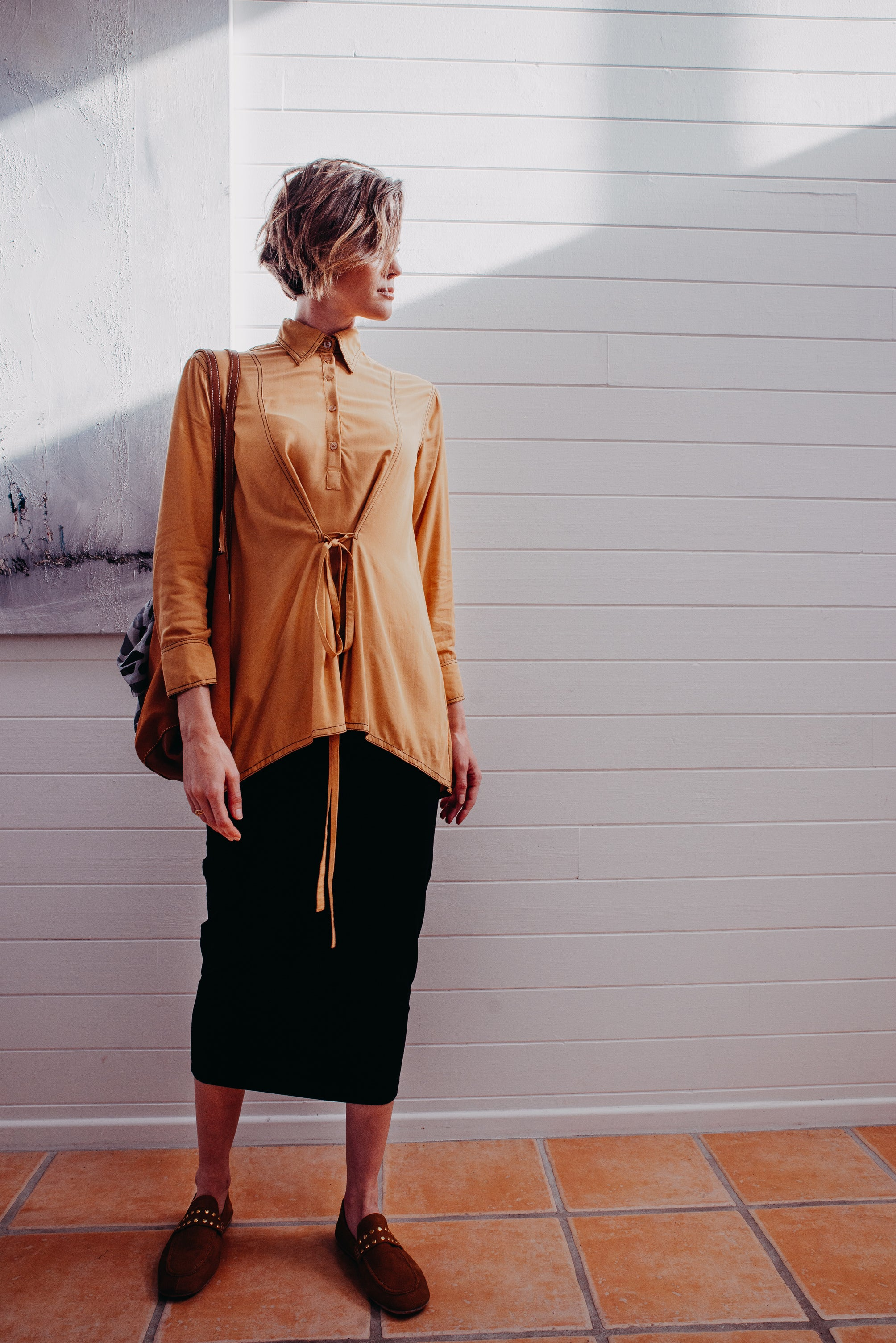 BYRON PLEAT SHIRT