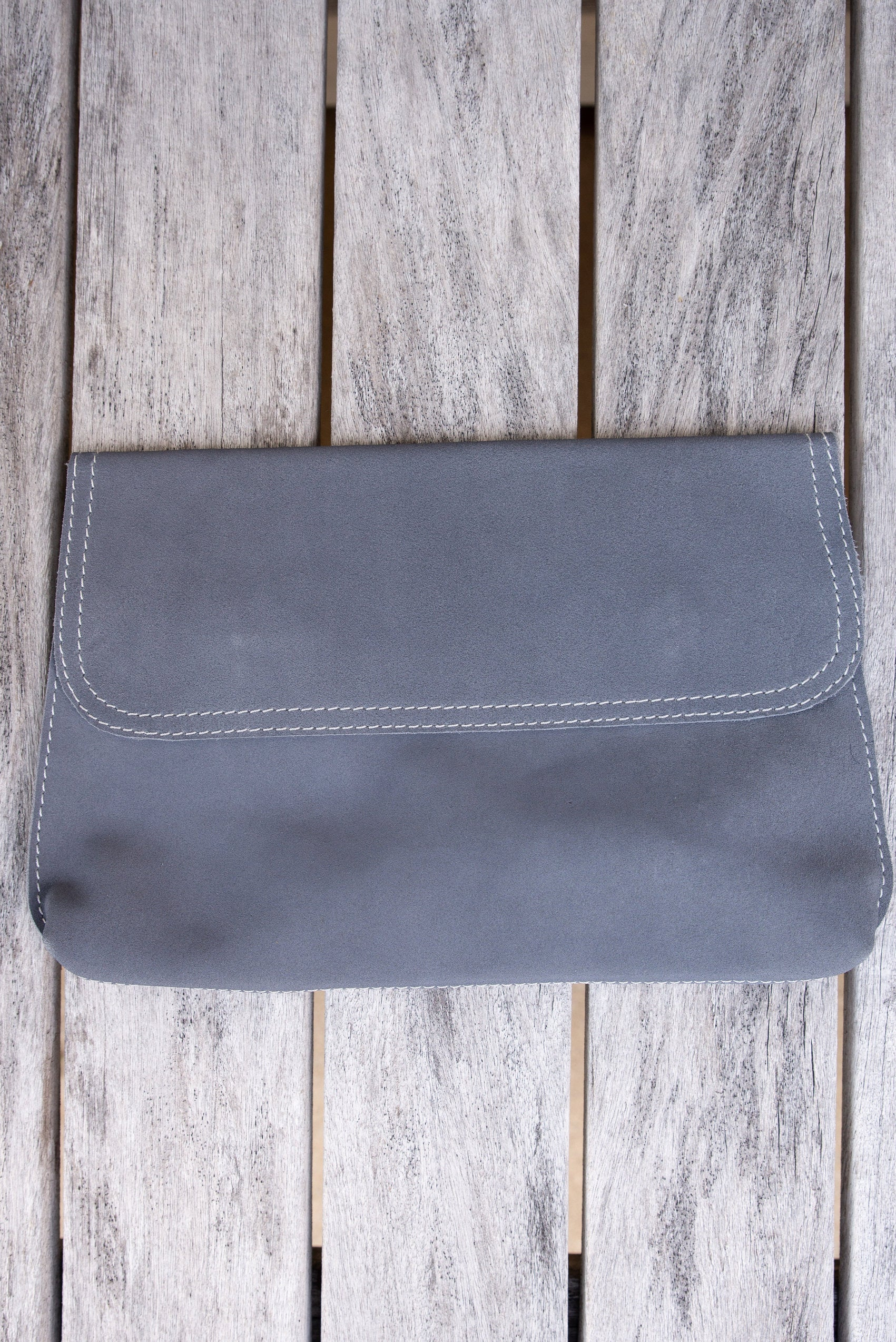 SILVER CROSS CLUTCH BAG