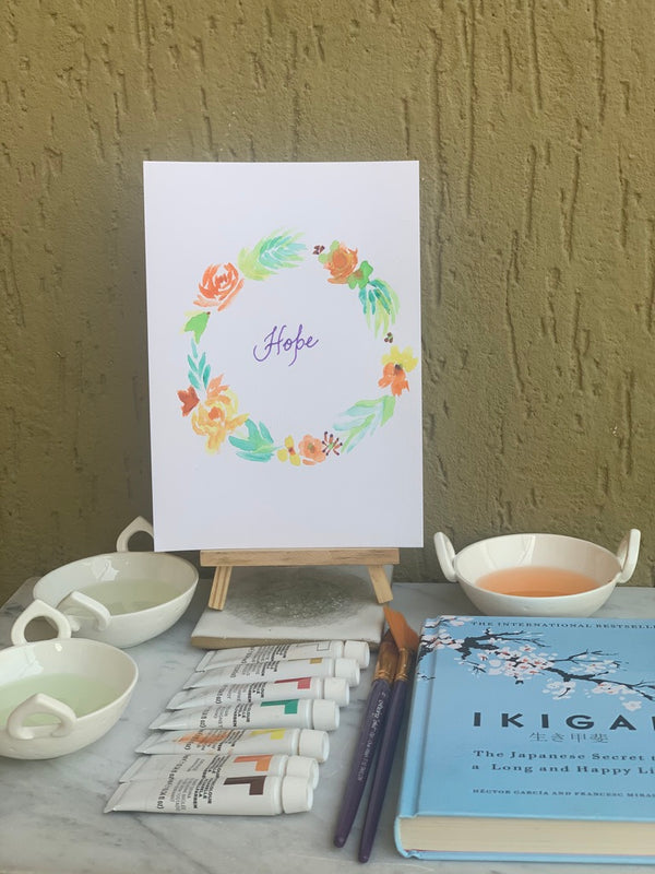 "Crafternoons with Özel: Watercolors ""Hope"""