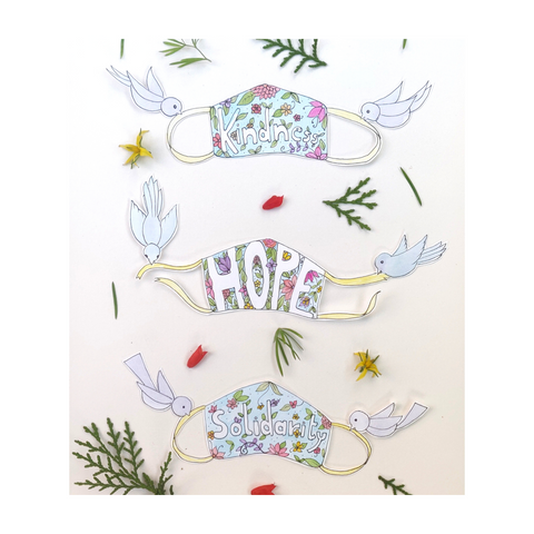 Hope mask watercolor art painting mask art diy illustration handmade