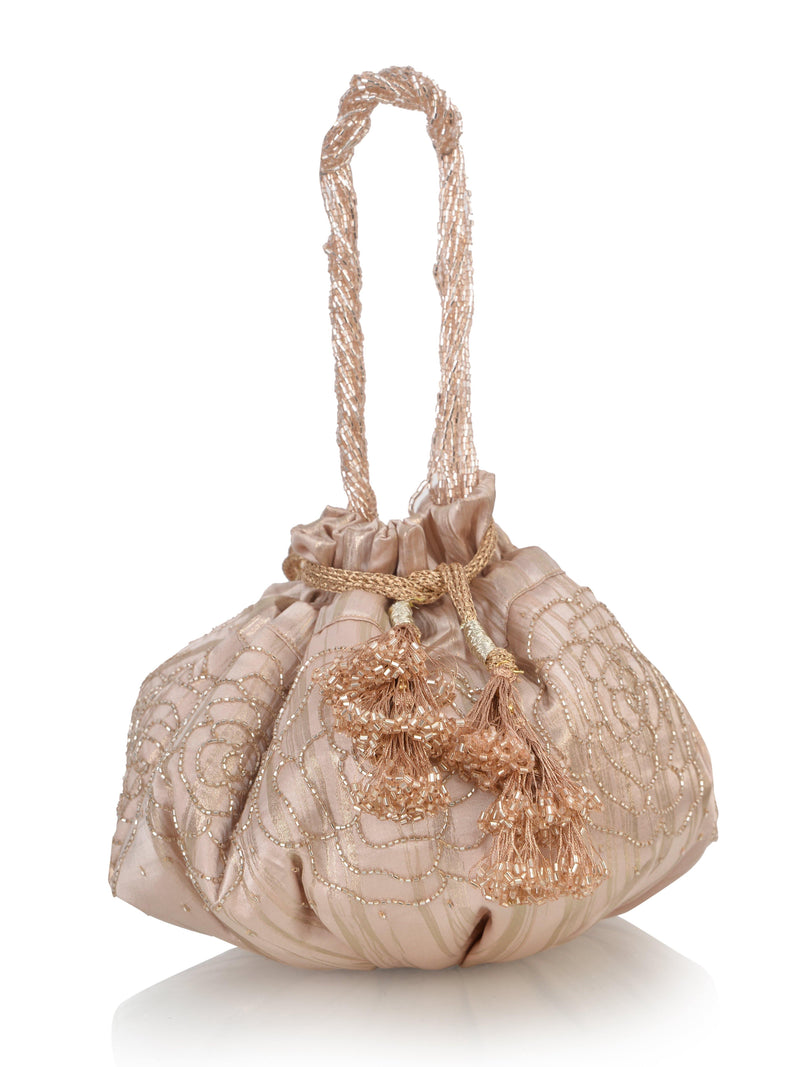 Amor Collection Rosé Potli Bag - Ozel Bir Sey