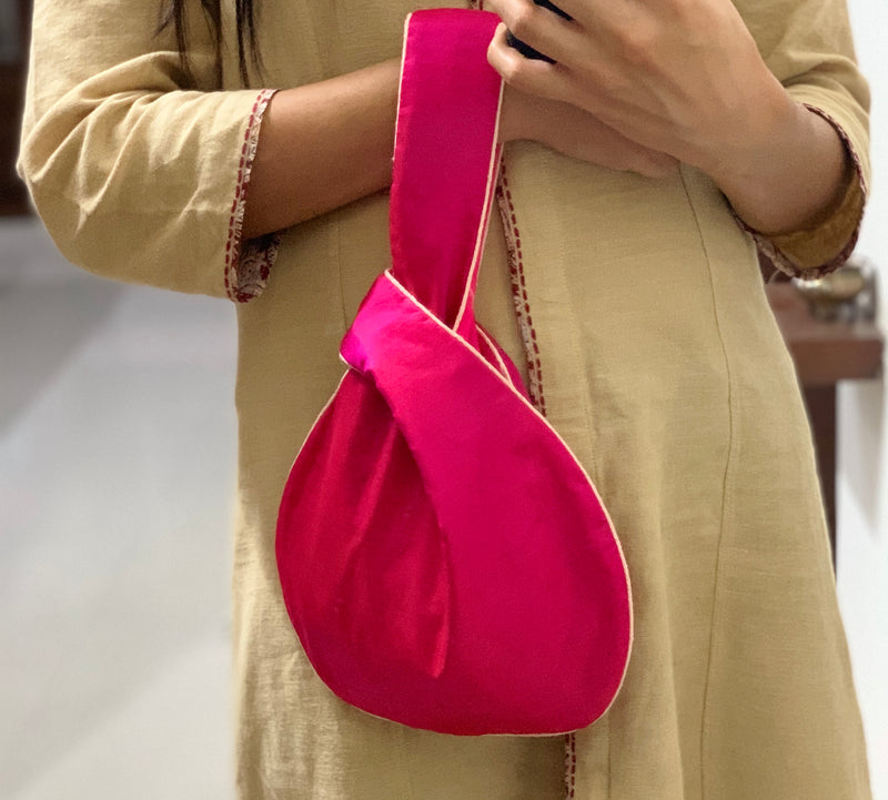 Pure Silk Japanese Knot Bag