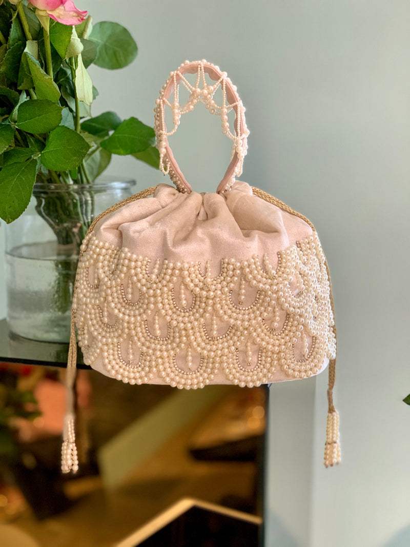 White Estelle Bucket Bag