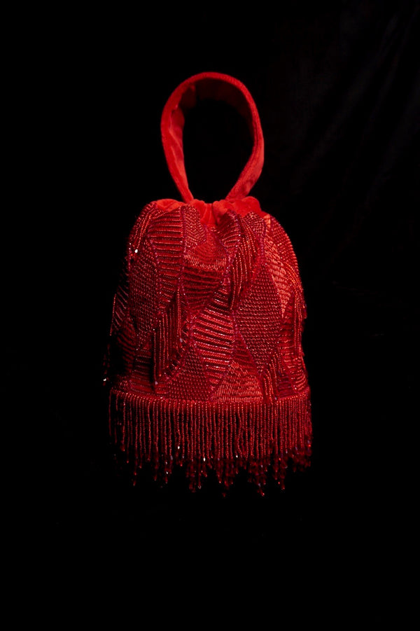 Medusa Red Bucket Bag